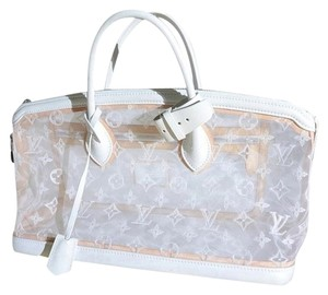 Louis Vuitton Limited Edition Lockit East West Satchel in Transparent White