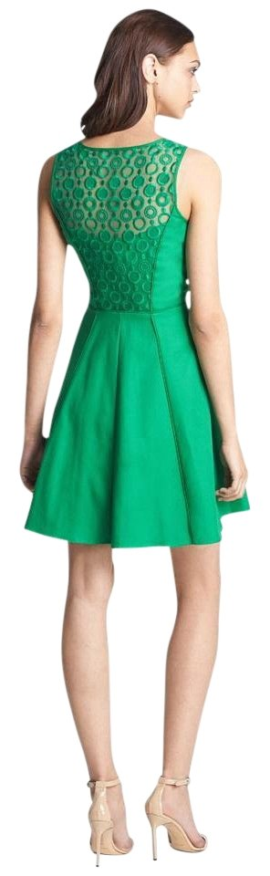 Jessica Simpson Kelly Green Open Back Fit and Flare Above Knee ...