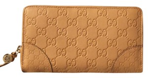Gucci Bree GG Leather Zip Continental Wallet Brand New