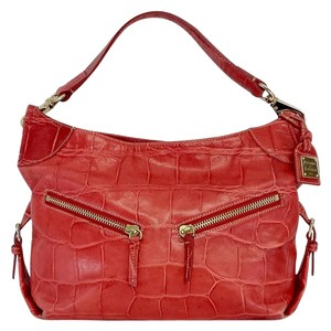 Dooney & Bourke Red Python Leather Shoulder Bag