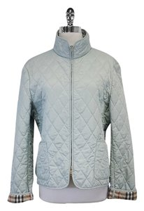 Burberry Light Blue Quilted Spring Baby Blue Jacket