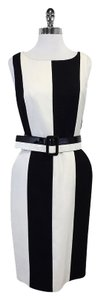 Carlisle Black & White Striped Dress