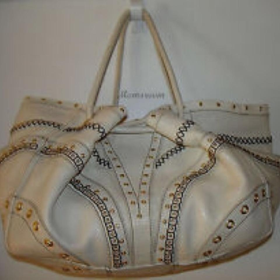 3864b7059d Cole Haan Satchel Model Sp06 Ivory White Leather Hobo Bag - Tradesy