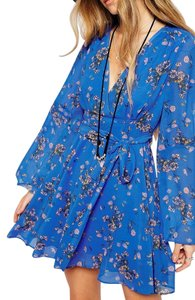 Free People short dress Cobalt Combo on Tradesy