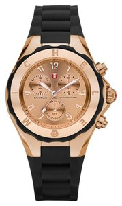 Michele NWT Michele Tahitian Jelly Bean Rose Gold and Black watch $395