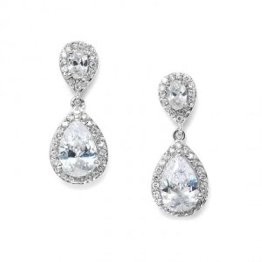 Mariell Silver Cz Teardrop 3520e Earrings