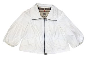 Burberry White Cropped Rain Jacket