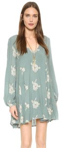 Free People short dress Misty Green Combo on Tradesy