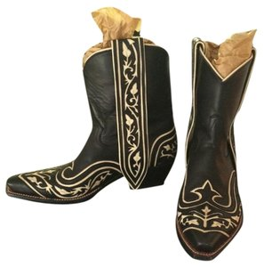 Rocketbuster Boots USA Cowboy Leather Black Boots