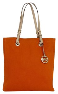 Michael Kors Orange Canvas Tote