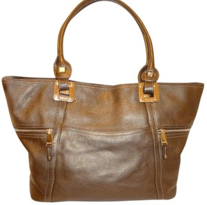 Tignanello Refurbished Leather Ex-lg Tote in Pewter