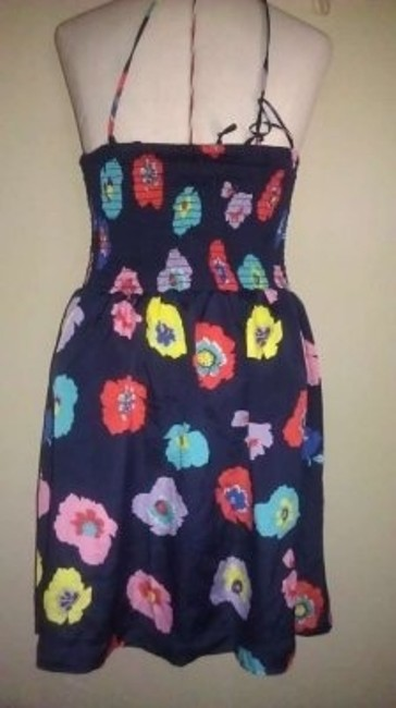 American Eagle Outfitters short dress blue colorful flowers on Tradesy