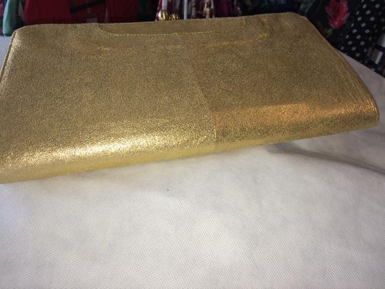 Hobo International Leather GOLD Clutch Image 4