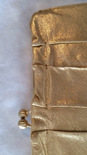 Hobo International Leather GOLD Clutch Image 6