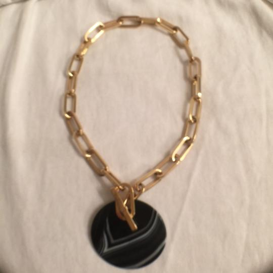 Preload https://img-static.tradesy.com/item/15484456/michael-kors-gold-black-grey-white-new-wstone-agate-city-disc-statement-necklace-0-0-540-540.jpg