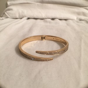 Michael Kors NEW! Matchstick Gold Stainless Pave Crystal Bangle Cuff