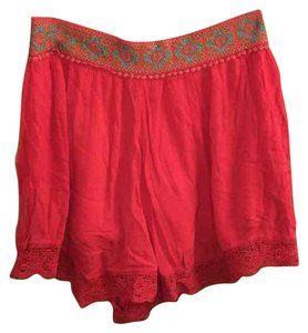 Free People Mini Skirt Red Orange