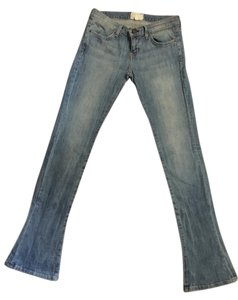 Current/Elliott Fitted Boot Cut Jeans-Light Wash