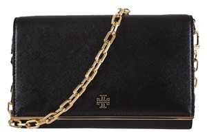 Tory Burch NEW Tory Burch Women's $325 Robinson Black Patent Leather Chain Wallet