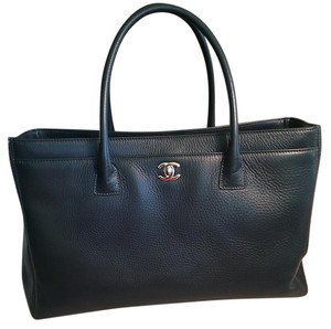 Chanel Executive Leather Tote in Navy
