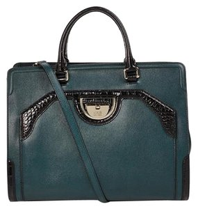 Roberto Cavalli New Collection Satchel in dark green