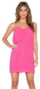 BCBGeneration short dress WILD ROSE Mini Pleated Pink Bright on Tradesy