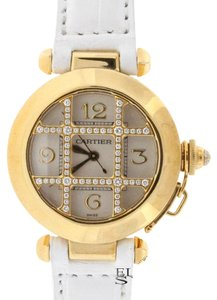 Cartier Cartier Pasha Gold Diamond Grid 32MM Ladies Watch WJ11951G Box&Papers