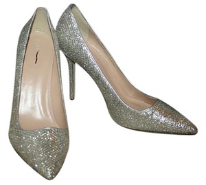 J.Crew Glitter Pointed Toe Gold Silver Pumps