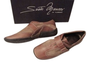 Sesto Meucci Slip-on Casual Leather & Suede Taupe Flats