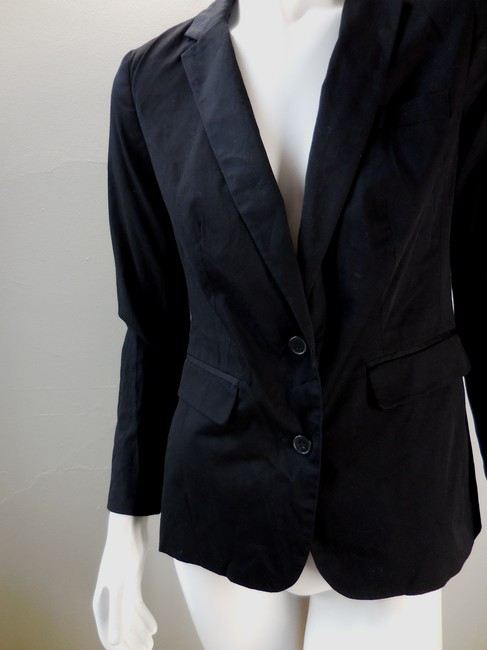 A.N.A. a new approach Lined Suit Coat Jacket Career Twill Black Blazer