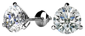 Avi and Co 0.30 cttw Round Diamond Martini Screw Back Stud Earrings F-G/VS 14K White Gold