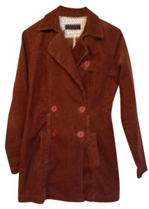 Juicy Couture Corduroy Double Breasted Trench Coat