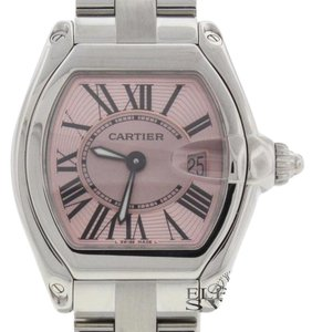 Cartier Cartier Roadster Pink Sunray Dial Steel Ladies W62017V3 B&P