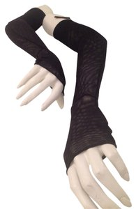 Chanel Authentic Chanel Black Lace Fingerless Opera Gloves