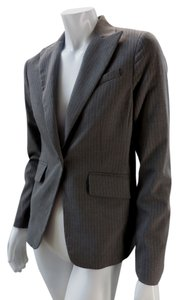 BCBG Lined Stretchy Wool Career Taupe Blazer