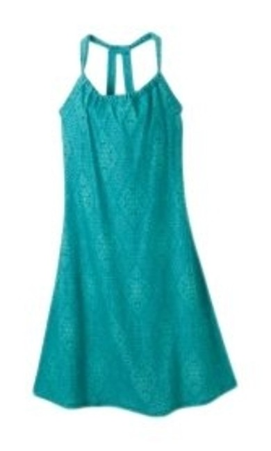 prAna short dress turquoise Racerback Shelf Bra Summer Blue Wash And Wear on Tradesy