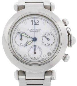 Cartier Cartier Pasha Chronograph Automatic S/S White Dial 36mm Watch #2412