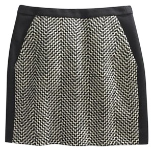 J.Crew Mini Skirt Black & White