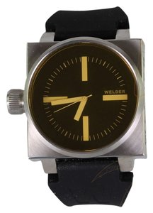 Welder Stainless Steel Black Rubber Yellow Tint Glass K26 Analog Men's