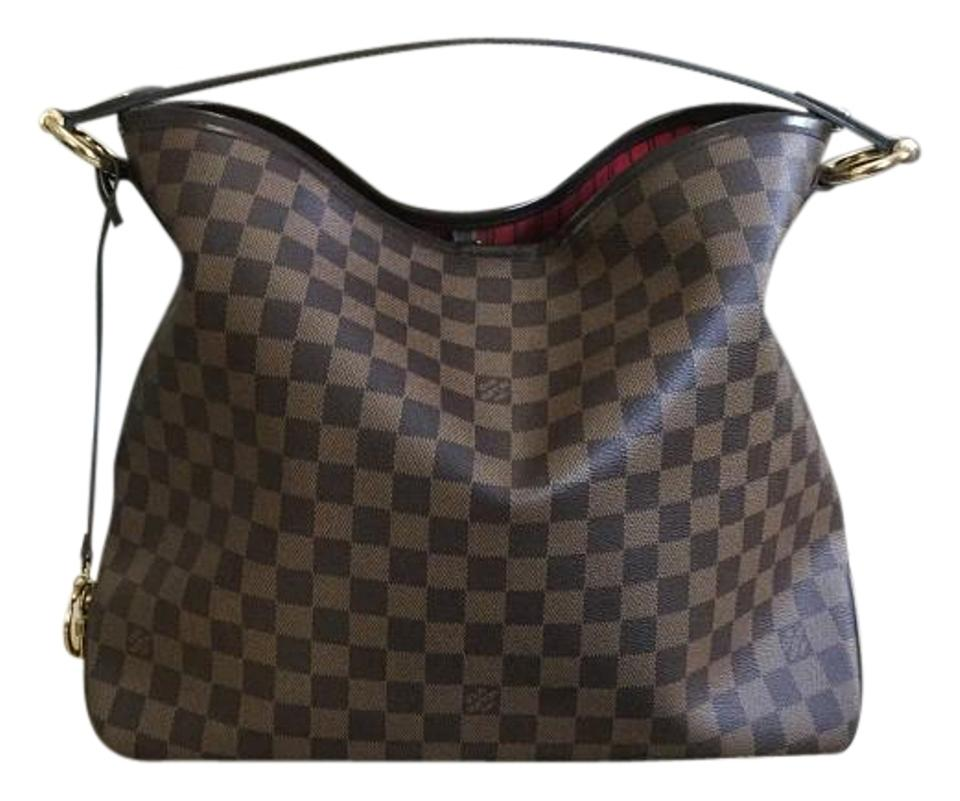 1727cead4b22 Louis Vuitton Delightful 2016 Mm with Dustbag Receipt Date Code Sd0126 Damier  Ebene Canvas and Leather Hobo Bag