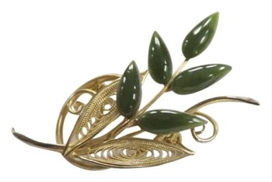 Other Gold Tone Leaf Brooch