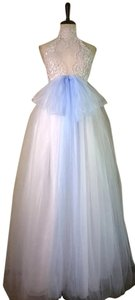 Lisa Nieves Beaded Evening Sleeveless Ball Gown Bridal Dress