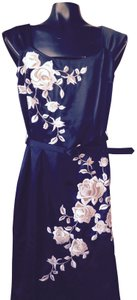 White House | Black Market Sheath Embroidered Roses Dress
