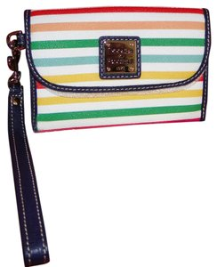 Dooney & Bourke Catalina Striped Coated Cotton Wristlet *SOLD OUT*