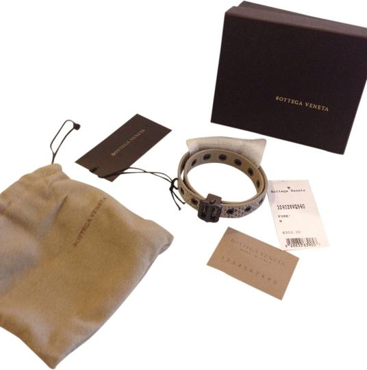 Bottega Veneta BOTTEGA VENETA AUTHENTIC NWT SNAKE EMBOSSED LEATHER BRACELET