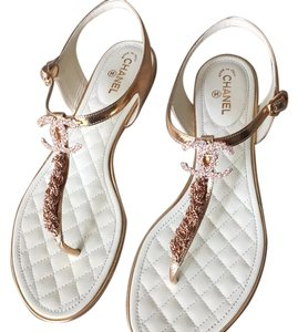 Chanel Rose gold Sandals