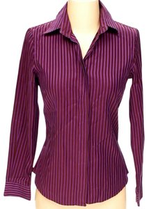 Etro Striped Button Down Shirt Purple