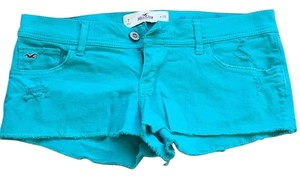 Hollister Cut Off Shorts Bright turquoise
