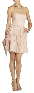 BCBGMAXAZRIA Lace Blush Chantilly Lace Eyelash Lace Bridesmaid Dress
