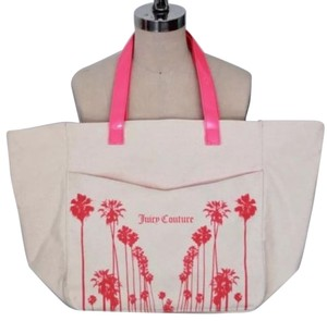 Juicy Couture Palm Tree Neon Tote in Pink